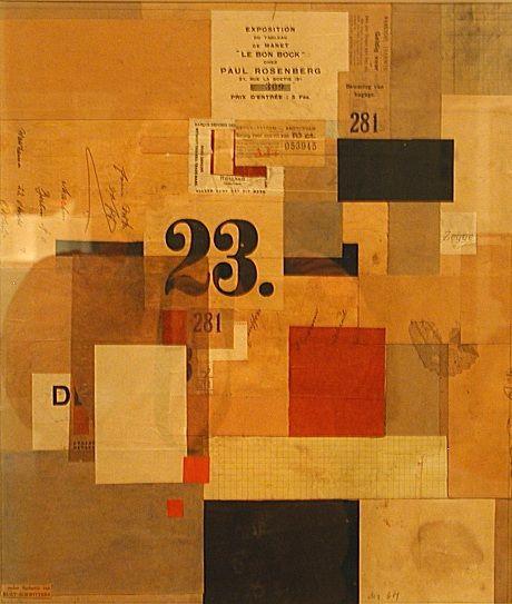 Kurt Schwitters  Mz. 601, 1923, Collage; paint and paper on cardboard.   Sprengel Museum, Hanover