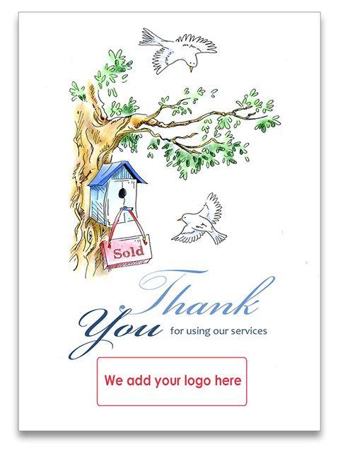 13 best thank you cards for estate agents images on pinterest thank you card for estate agents to send to their clients whether they m4hsunfo