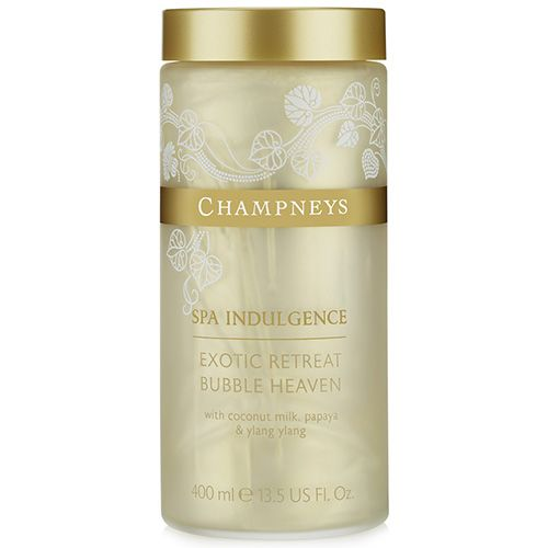 Champneys Spa Indulgence Exotic Retreat Bubble Heaven, This indulgent bubble bath from Champneys Exotic Retreat range fills your bath  with pampering bubbles to leave skin feeling velvety soft and smooth.