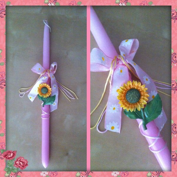 Easter candle! By Stella Handcrafts!