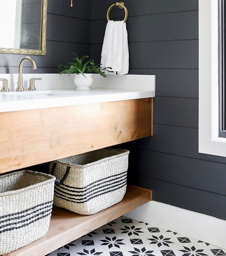 Pin On Shiplap: Pin By GroundtoFork On Bathrooms
