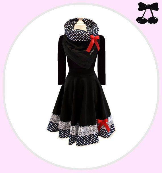 S M L XL XXL Kleid   Alice Navy   mit Kragen von BlackCherrysStore