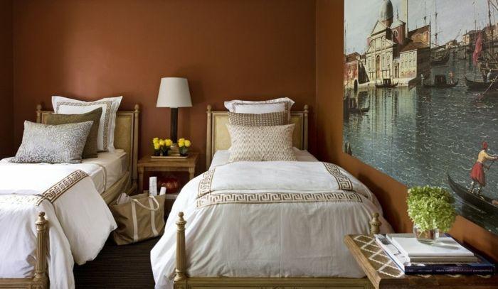 1001 Ideas De Decoración Con Cuadros Para Dormitorios Dormitorios Habitación Con Dos Camas Dormitorios Individuales
