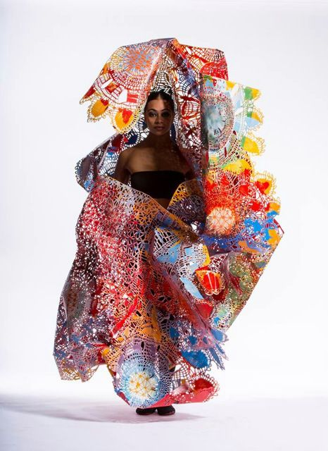 Love this World of Wearable Art Open Section Winner by Jeff Thomson.