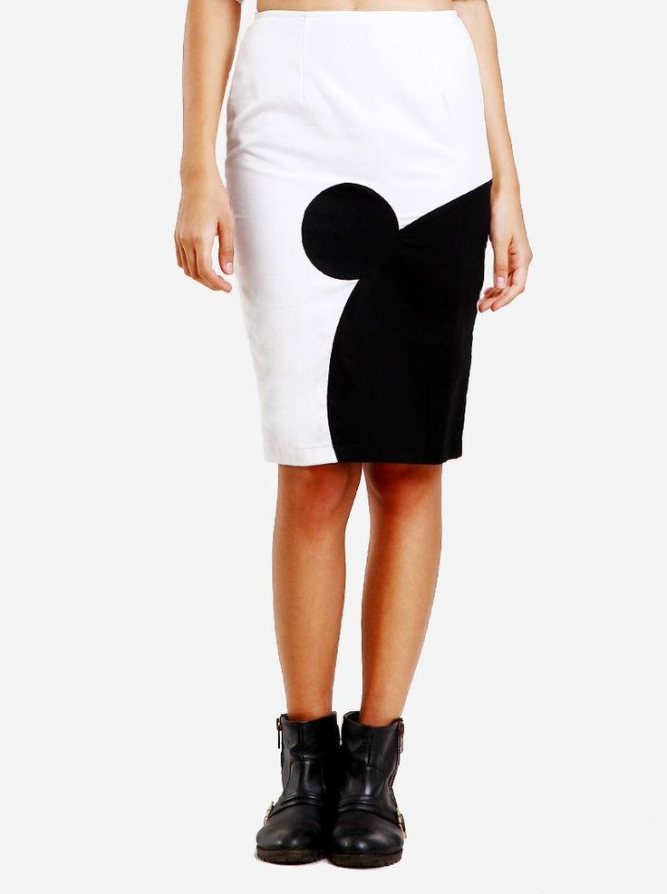The Day and Night Mickey Skirt is a blend between modern fashion and your favourite all-time classic childhood companion from the wonderful world of Disney. This skirt features a silhouette of the most iconic cartoon character of history. It is definitely a must-have for any fashionista's wardrobe. Pair with a crop top and some flatforms and you've got the trendiest look out there.  http://www.zocko.com/z/JKCMS