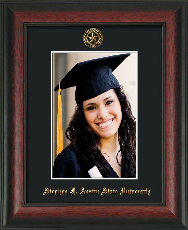 Stephen F Austin State 5 x 7 Rosewood photo frame w/black mat. – Professional Framing Company