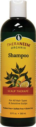 TheraNeem Organix Shampoo Scalp Therape.  Very thin shampoo.  You will need a lot.  My hair feels much softer using it though.