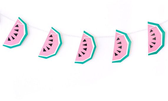 Geometric Watermelon Garland by The Chaos Club