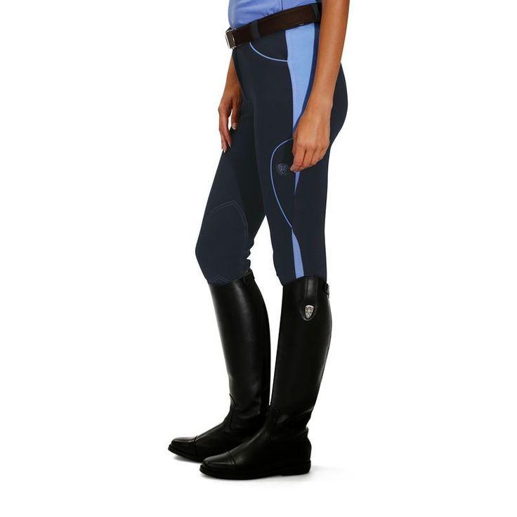 Deporte Equitación Equitación, hípica - Pantalón BICO 500 azul m/azul FOUGANZA - Ropa del jinete