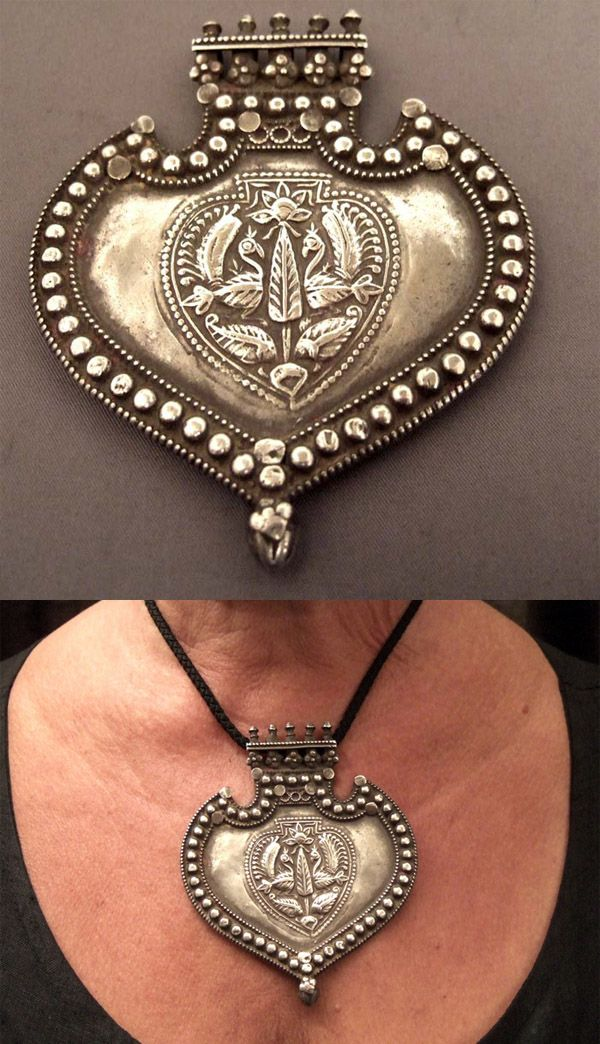 India | Amulet pendant; silver from Rajasthan | late 19th century | 625€