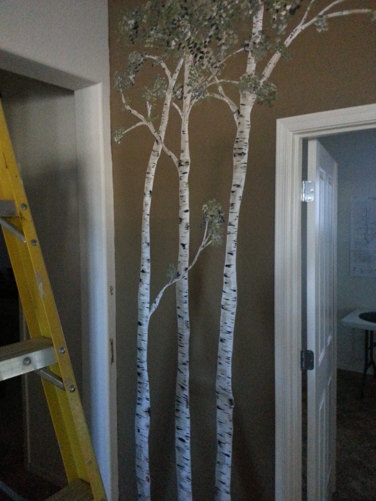 I Painted Birch Trees On A Wall At A Friend 39 S House