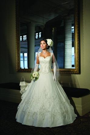 pc mary wedding dress