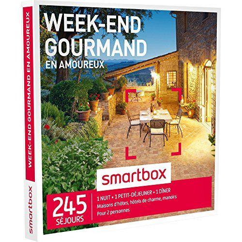 SMARTBOX – Coffret Cadeau – WEEK-END GOURMAND EN AMOUREUX – 200 séjours : maisons d'hôtes, hôtels de charme, châteaux ou manoirs: 245…
