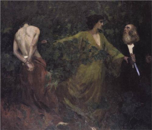 Abraham's Sacrifice - Karoly Ferenczy