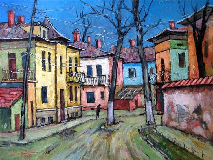 levkonoe   David Croitor. Strada veche in Bucuresti