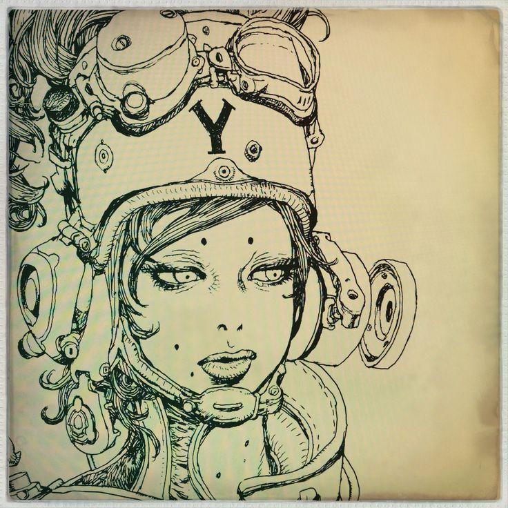 Drawings by Japanese comic artist Katsuya Terada