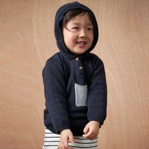 buckley hoodie / navy / kid nature