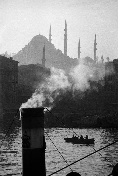 Ara Guler TURKEY. Istanbul. A view of the Golden Horn with the Suleymaniye Mosque built during the Ottoman empire. 1956.