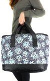 NEW Dual Handle Large Lunch Bag Tote Insulated Beach Bag Velcro Zipper Pockets