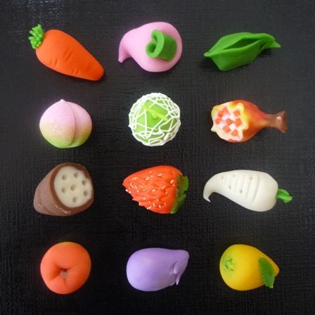 fruit and vegetable wagashi
