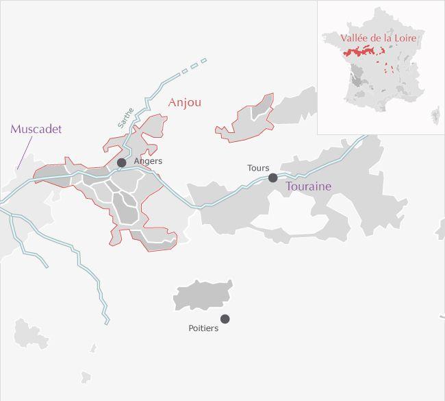 Carte de : Quarts-de-Chaume Vallée de la Loire Anjou