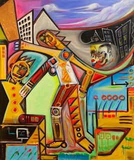 Untitled, Cityscape Series ©2012 Pop Artist Michael Perez   Gallery 212 Miami   Photo Courtesy Fred Love Photo