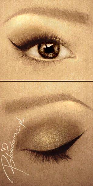 kreska eyelinerem - opadajace powieki