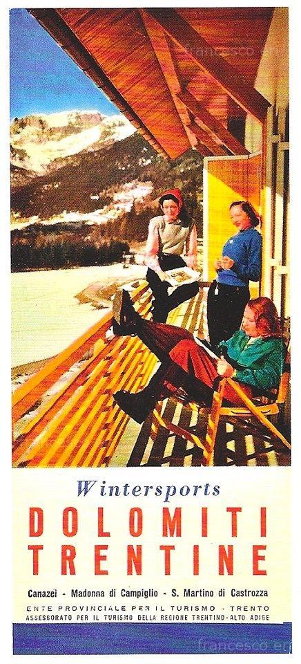 vintage ski poster - Dolomiti Trentine