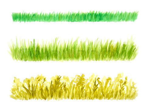 watercolor painting grass field - Google Search