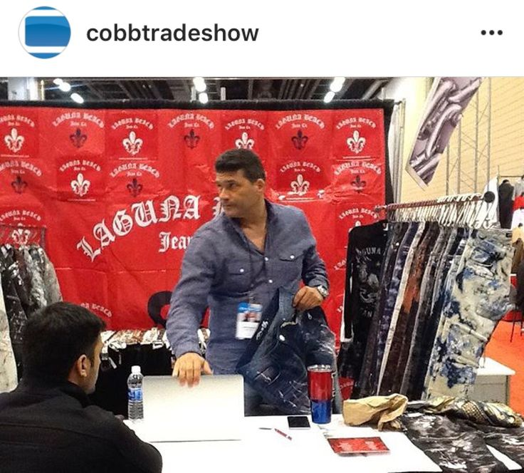 Laguna Beach Jean Co. is at the Cobb Trade Show in Atlanta 👖 Stop by and check out our new moto jeans ⚜ #rocktheoclifestyle