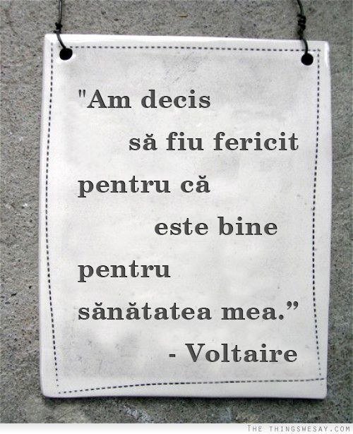 Noi am decis să îi urmăm exemplul lui Voltaire. Voi ce alegeți?