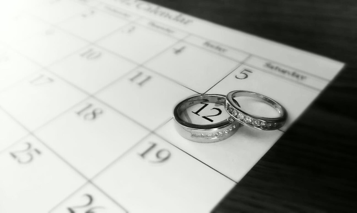 Calendar, cell camera, and wedding bands <3