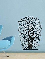 pared calcomanías pegatinas de pared, árbol de la decoración del hogar de la flor cotizaciones pegatinas de pared de pvc