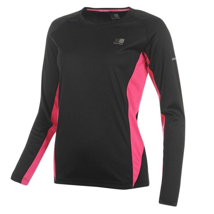 Karrimor | Karrimor Long Sleeve Running T Shirt Ladies | Ladies Running Clothing $12.00