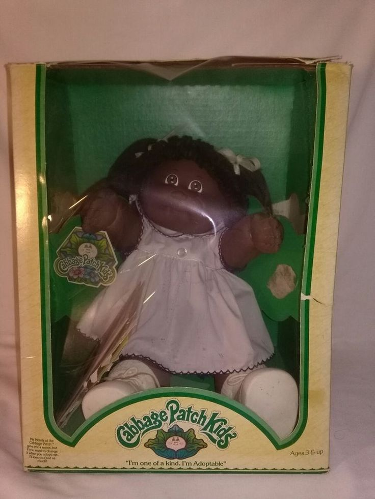 Vintage 1985 Coleco Cabbage Patch Doll African American Black