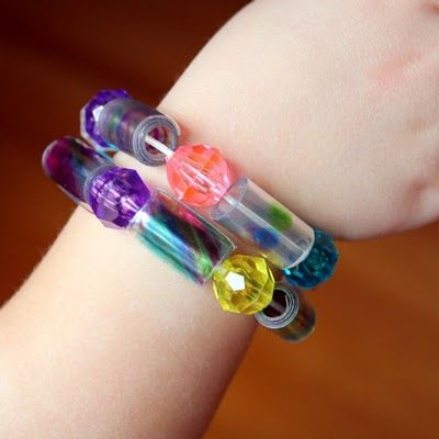 soda bottle bracelets.