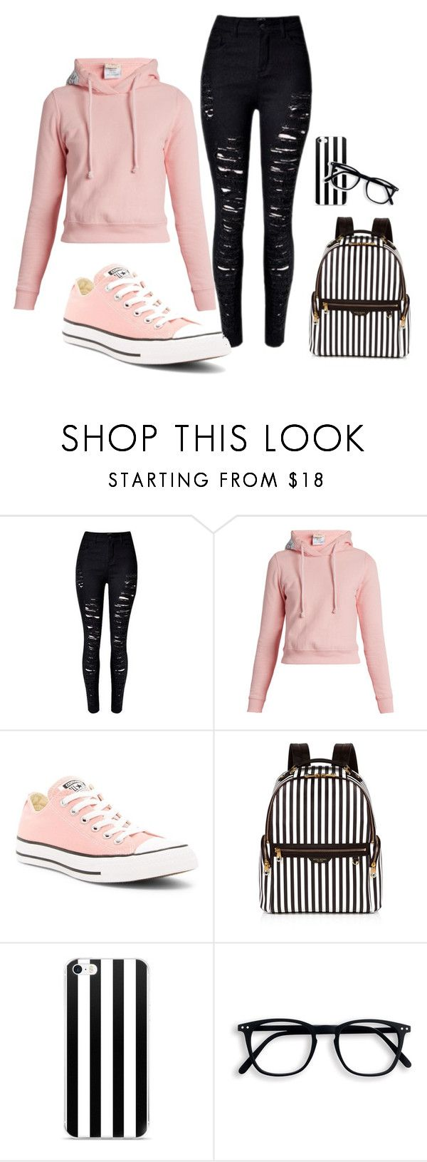 """Day at School"" by summerpate ❤ liked on Polyvore featuring Vetements, Converse and Henri Bendel"