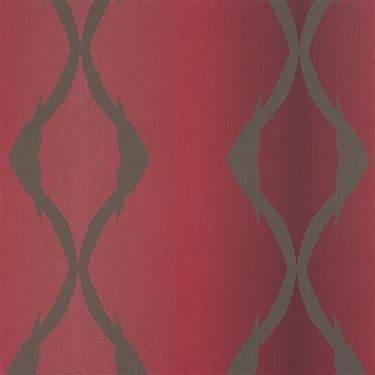 Chrimson twisted contemporary stripe home wallpaper R2420 #marsala #coloroftheyear #pantone
