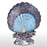 Found it at Wayfair - Glass and Metal Shell Table Lamp