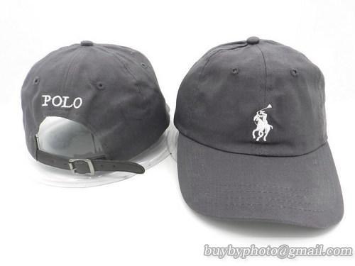 POLO Baseball Caps Strapback Hats Curve Caps Grey