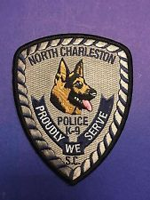 NORTH CHARLESTON SOUTH CAROLINA K-9 SHOULDER PATCH