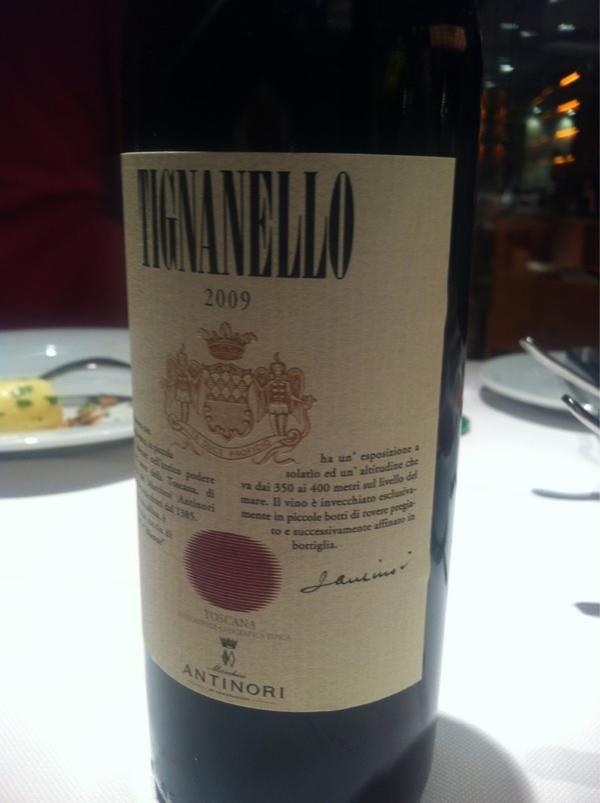 Tignanello 2009 from Toscana