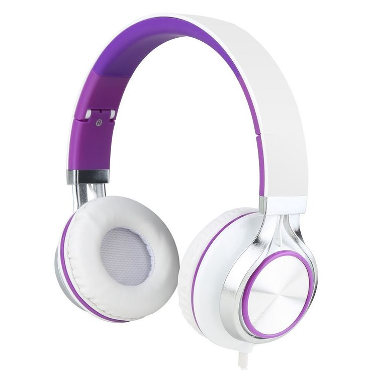Generic Headsets Strong Low Bass Headphones White Purple. Rotating And Folding Design,Easy To Carry And Save Spaces,Adjustable Stretching. Noise-isolation Perfectly. High Tenacity Eco-friendly Plastic Outer Shell. Advanced-braised Nylon Wire.