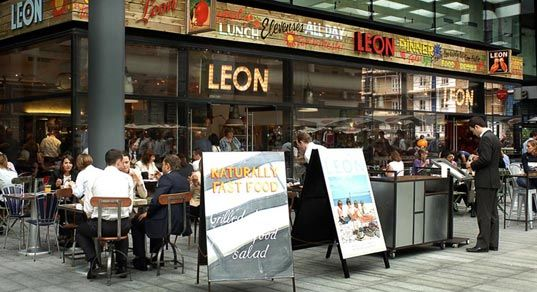 Leon restaurant modern fast food as it should be wraps