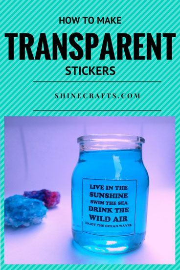 How To Make Your Own Transparent Stickers Glass Block Crafts How To Make Stickers How To