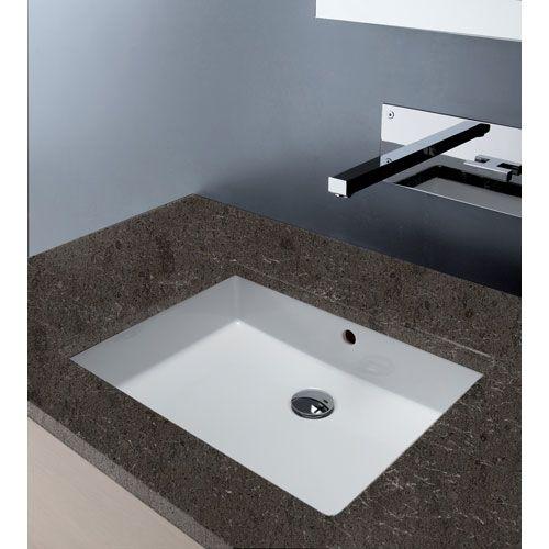 Traffic Slim Ceramic Under Mount Rectangular Sink Undermount Bathroom Sinks  Bath