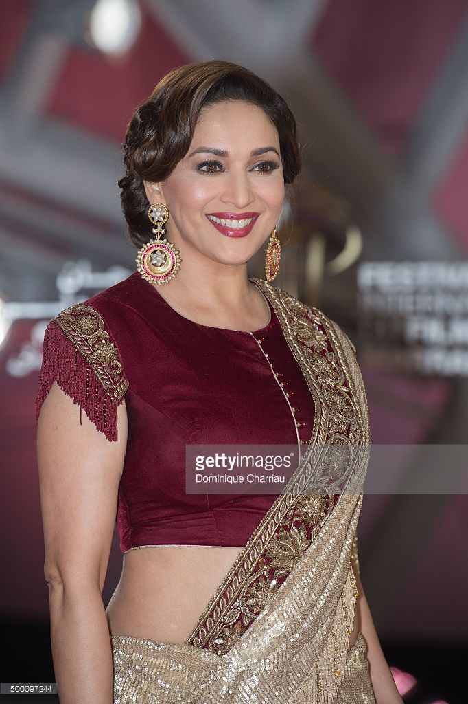 Madhuri Dixit attends the ' MR Holmes premiere during the15th Marrakech International Film Festival on December 5, 2015 in Marrakech, Morocco.