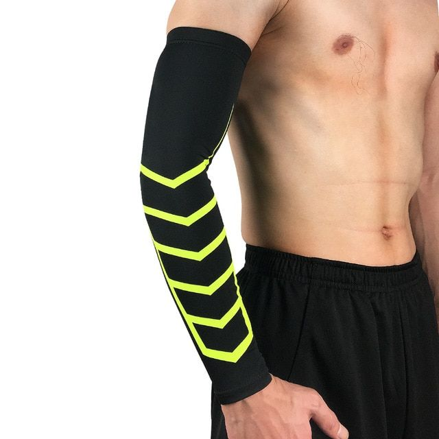 1pcs Spandex Arm Warmer Bike Basketball Elastic Compression Arm Sleeves Cycling Sun Uv Protective A Compression Arm Sleeves Tennis Elbow Treatment Tennis Elbow