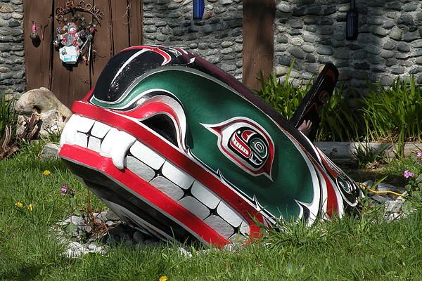 Alert Bay Orca by Brian Chase  Seen on a front lawn in Abert Bay, BC
