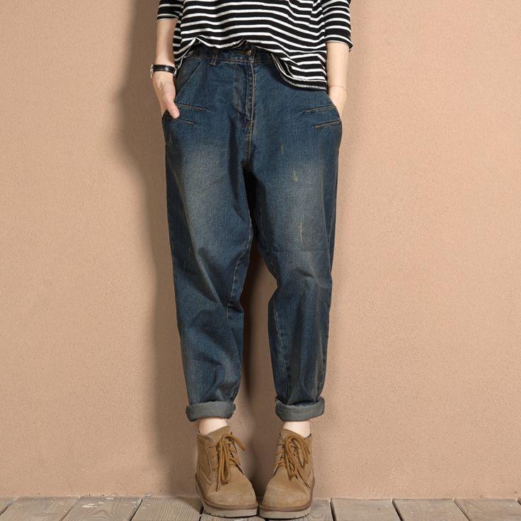 26.53$  Buy now - https://alitems.com/g/1e8d114494b01f4c715516525dc3e8/?i=5&ulp=https%3A%2F%2Fwww.aliexpress.com%2Fitem%2FDenim-Harem-Jeans-Pants-Loose-For-Women-Plus-Size-Boyfriend-Baggy-Jeans-For-Women-Large-Size%2F32694828908.html - Denim Harem Jeans Pants Loose For Women Plus Size Boyfriend Baggy Jeans For Women Large Size L-3XL 4XL 5XL